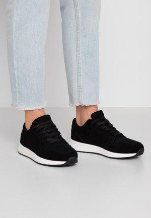 LEATHER - Sneakersy niskie - black