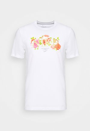 DRY TEE ELITE - Print T-shirt - white