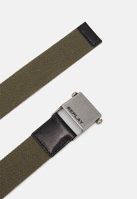 Replay - BELT UNISEX - Belt - military green - 1