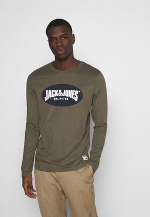 JOR30HISTORY CREW NECK - T-shirt à manches longues - dusty olive/navy