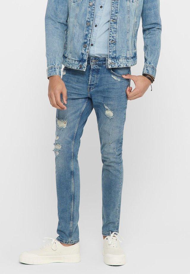 SLIM FIT JEANS ONSLOOM LIGHT BLUE - Slim fit jeans - blue denim