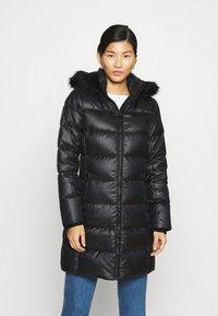 Calvin Klein - ESSENTIAL REAL COAT - Donsjas - black - 0