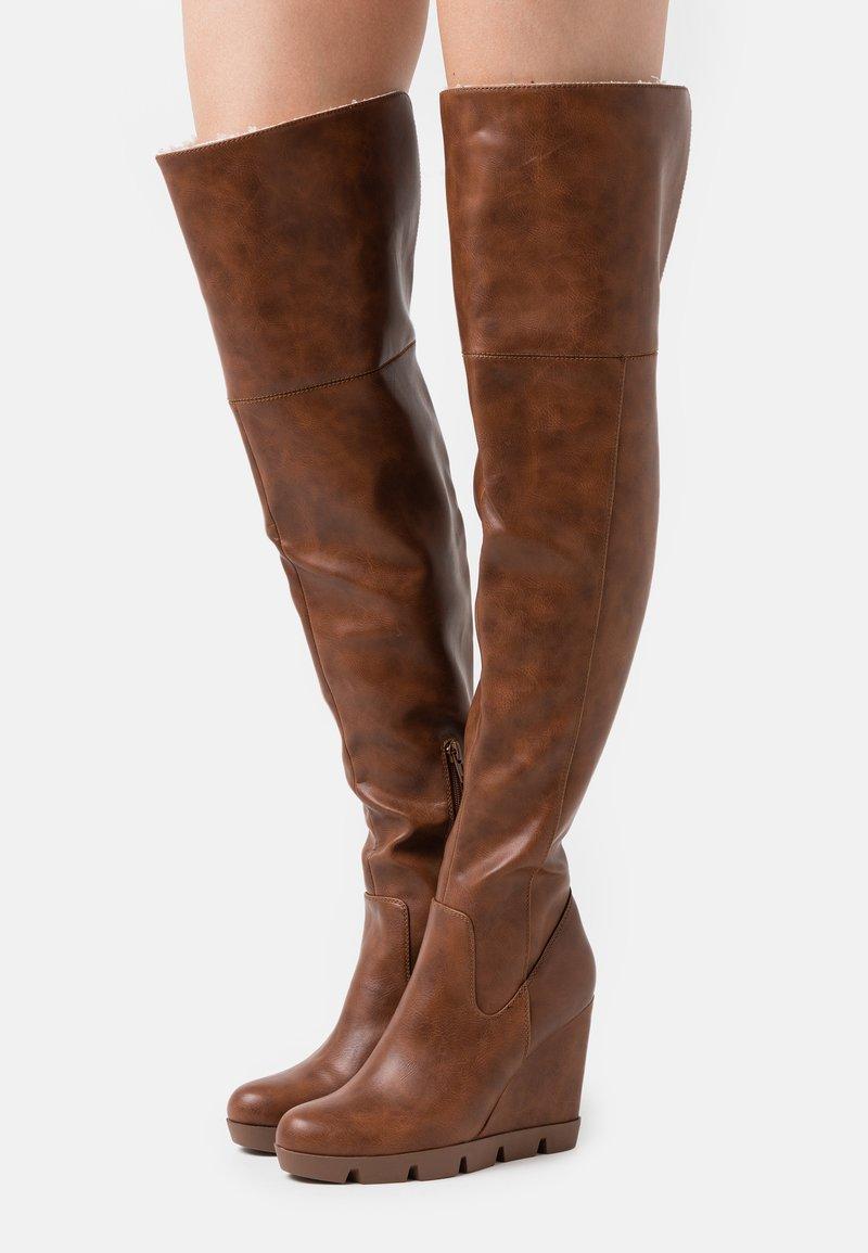 Anna Field - High heeled boots - cognac