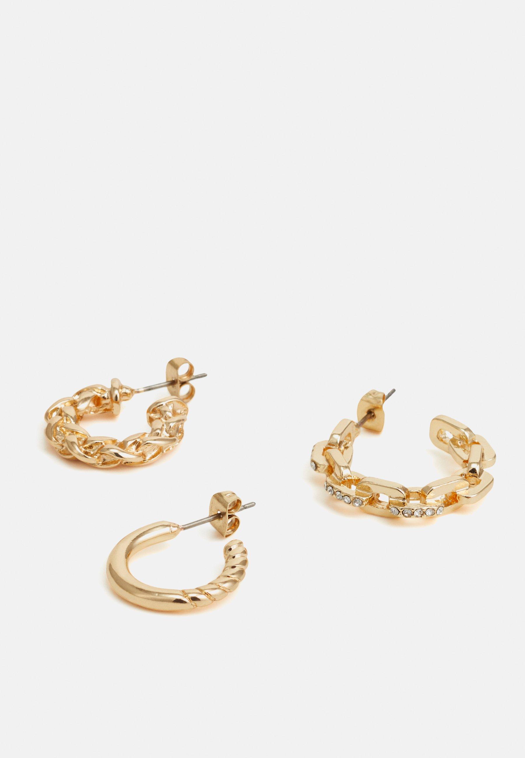 Pieces PCSISA EARRINGS 3 PACK - Øredobber - gold-coloured/gullfarget IlFZ8tmO8VWg5vD