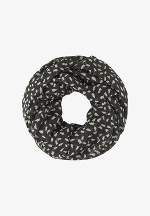 GEMUSTERTER - Snood - black leaf design