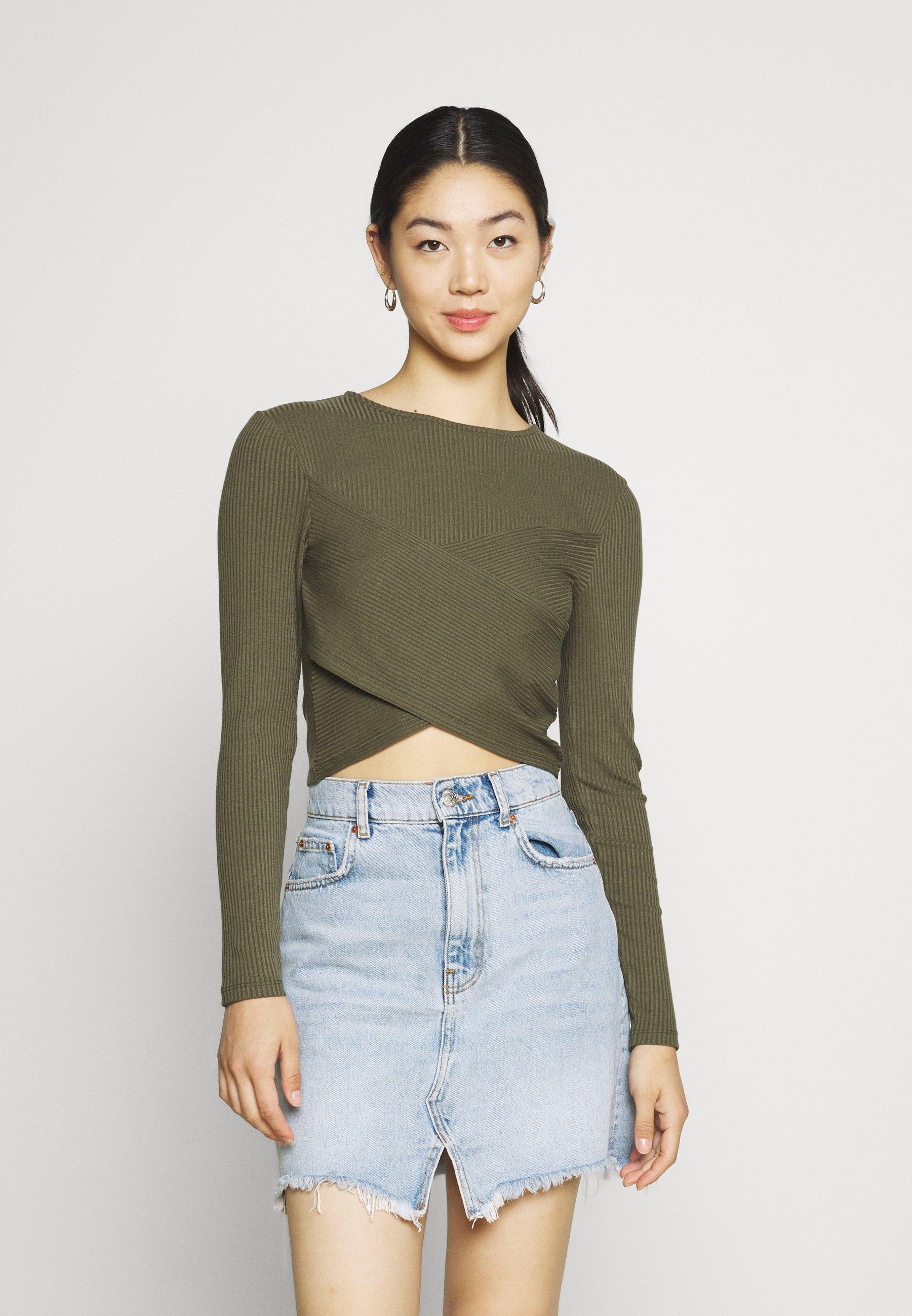 Women VMMARINA DETAIL CROP - Long sleeved top