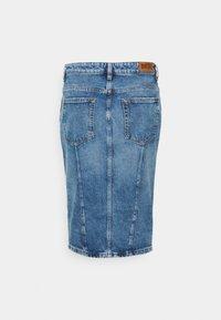 Diesel - PENCIL ZIP - Denim skirt - denim mid blue - 1