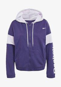Reebok - LINEAR LOGO FRENCH TERRY ZIP UP HOODIE - Zip-up hoodie - purple - 5