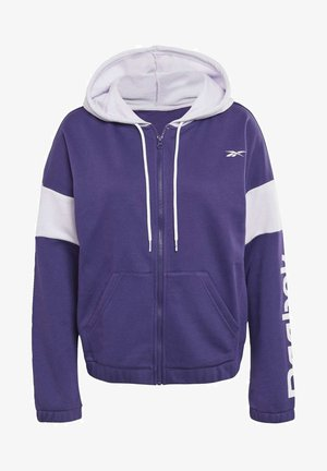 LINEAR LOGO FRENCH TERRY ZIP UP HOODIE - Zip-up hoodie - purple