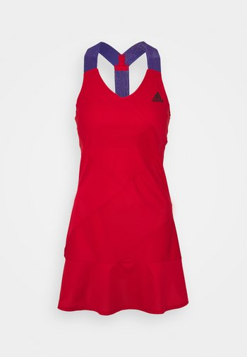 DRESS - Sports dress - scarle/black