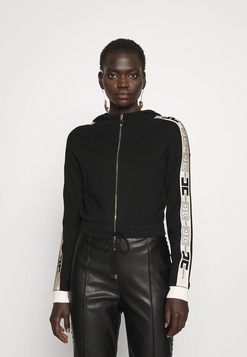 Elisabetta Franchi - Zip-up sweatshirt - nero/burro