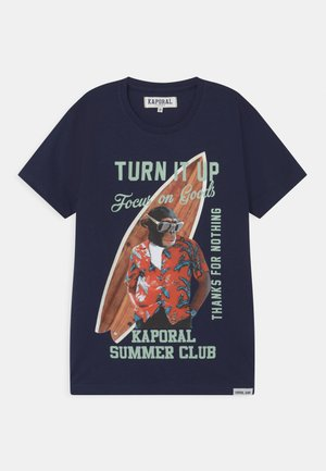 SURFING MONKEY - Print T-shirt - navy
