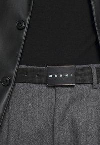 Marni - BELT UNISEX - Belt - black/maroon - 1