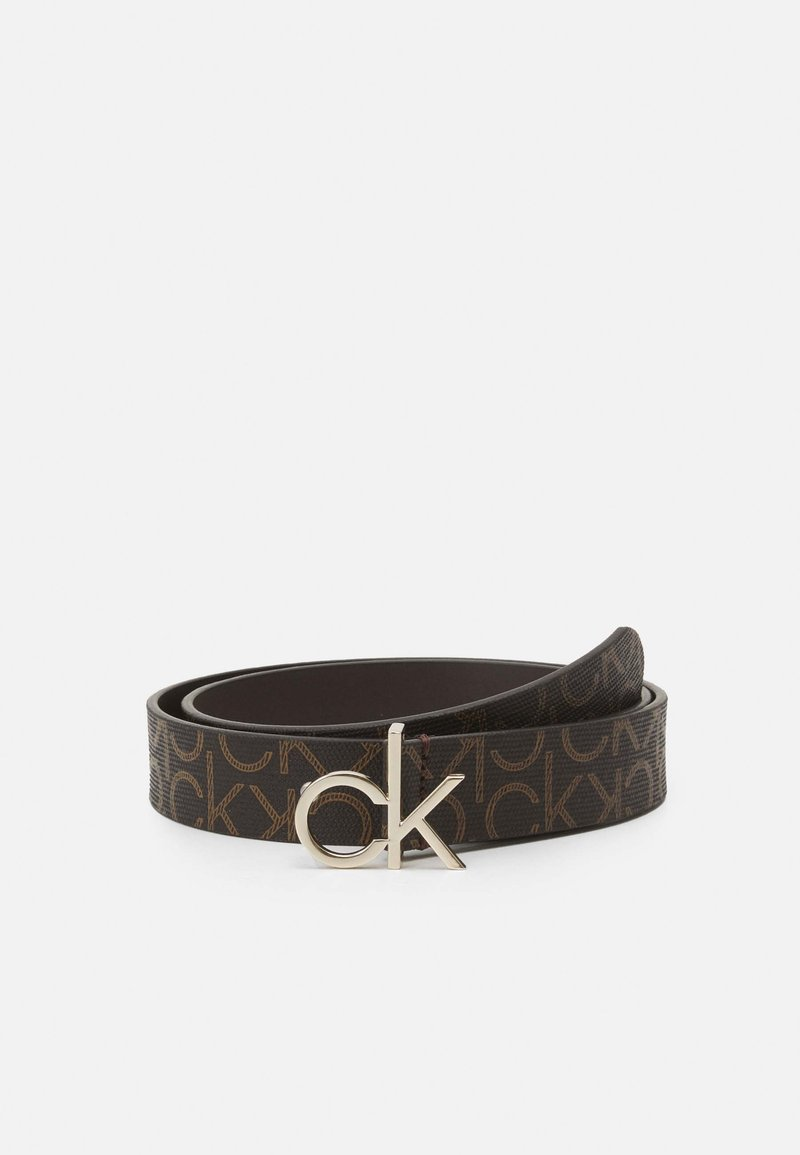 Calvin Klein - LOGO BELT MONO - Belt - brown
