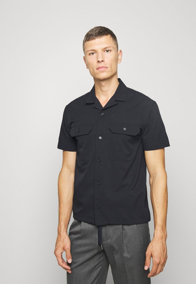 PERFORATED SOLID - Shirt - navy