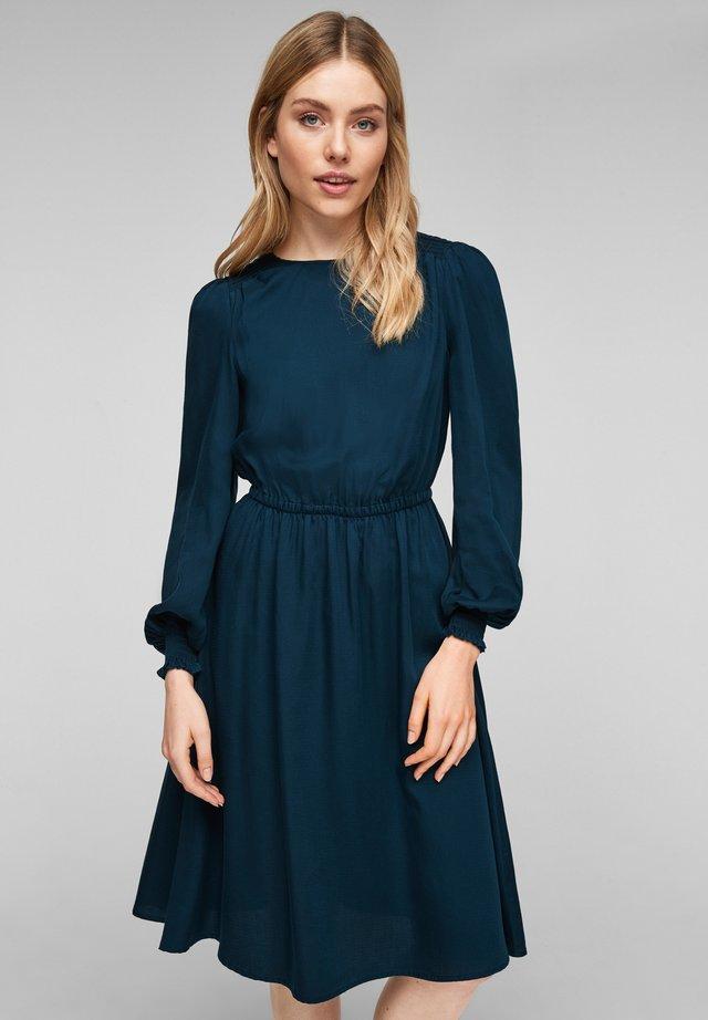 Korte jurk - petrol