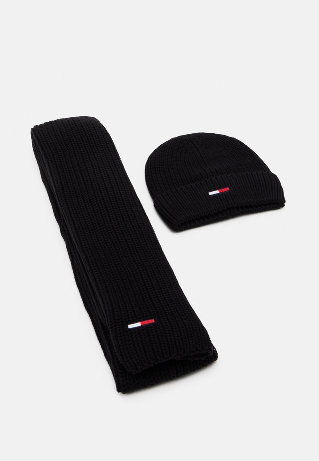 BASIC SCARF BEANIE SET   - Halsduk - black