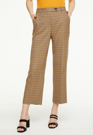 MIT KAROMUSTER - Trousers - chocolate houndstooth