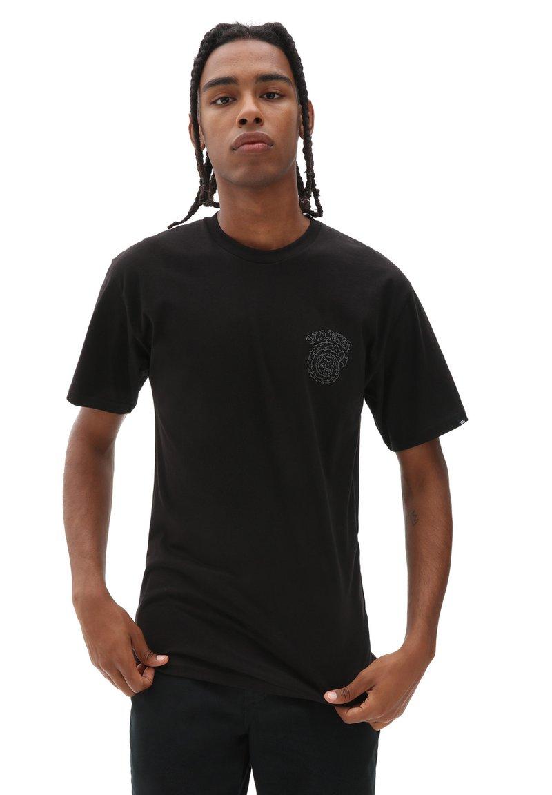 Vans - MN EL SOLE SS - T-shirt z nadrukiem - black