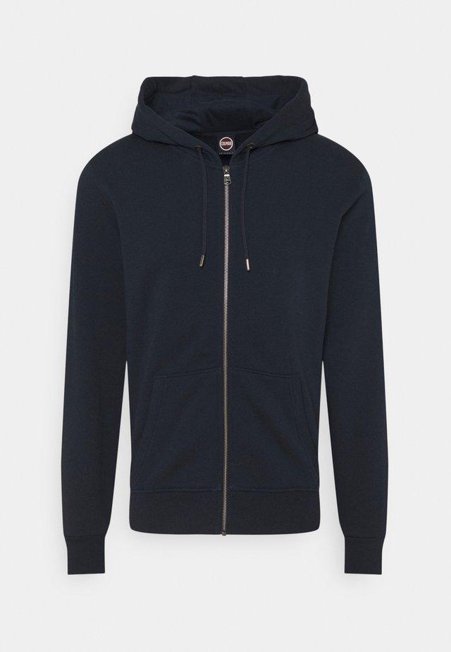 MENS - Sweat à capuche zippé - dark blue