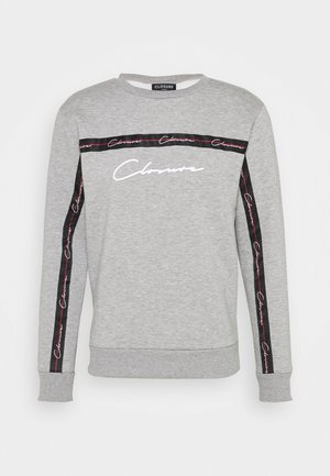 SCRIPT CREWNECK WITH TAPING - Sudadera - grey