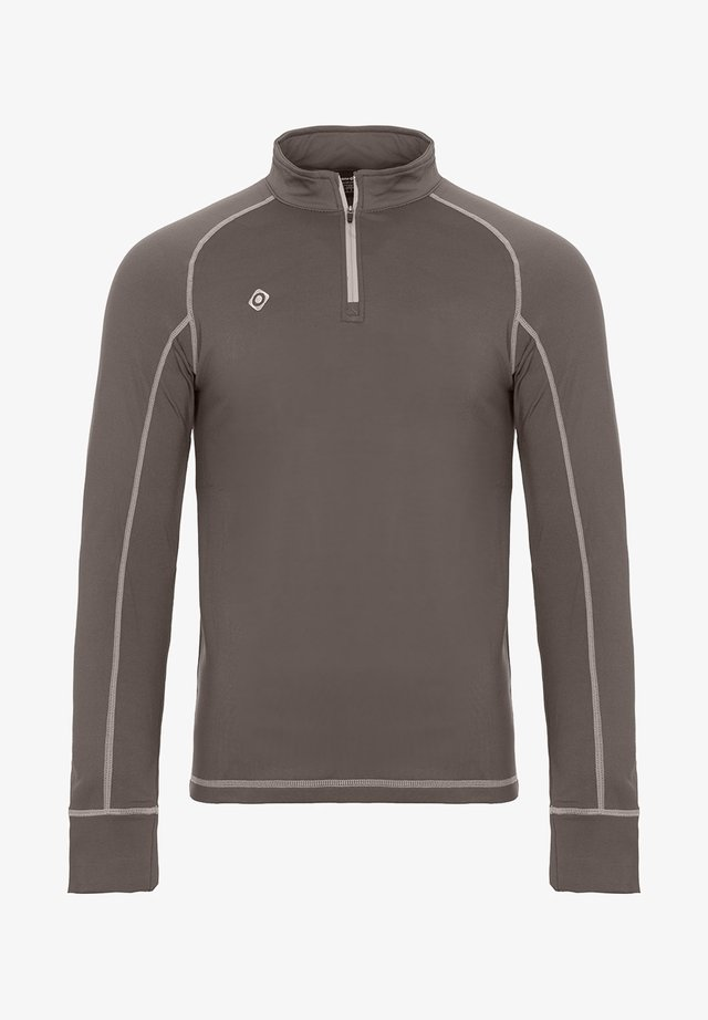 GORNER - Long sleeved top - dark grey silver
