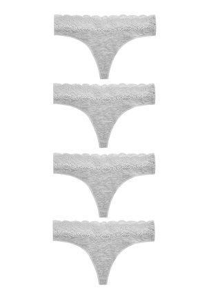 4 PACK - Thong - grey