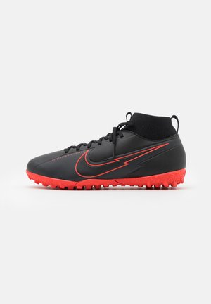 JR MERCURIAL 7 ACADEMY TF UNISEX - Astro turf trainers - black/dark smoke grey