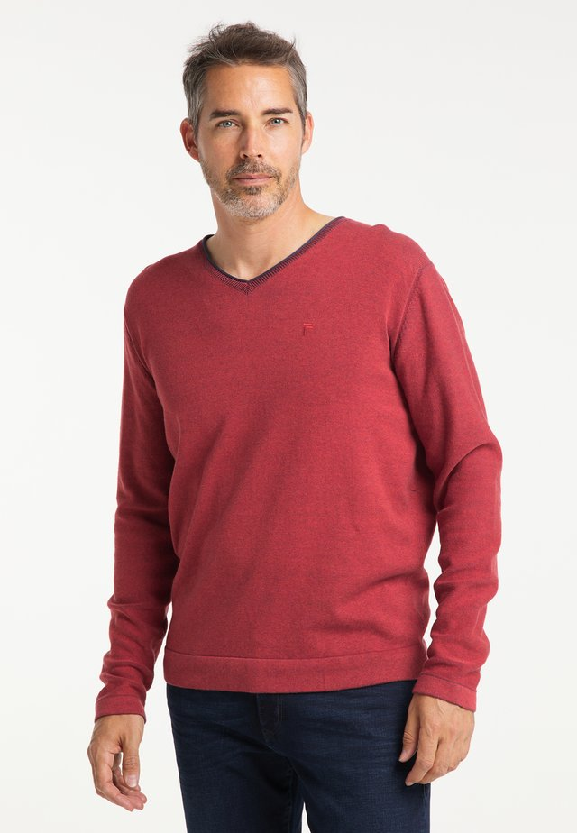 REGULAR FIT - Trui - lava red