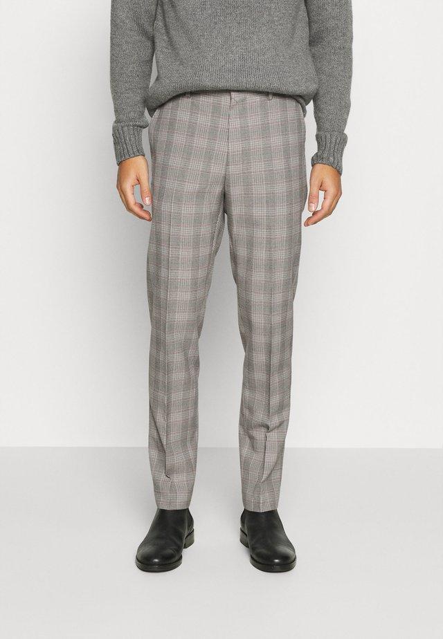 GREY BURG CHECK  - Oblekové kalhoty - grey