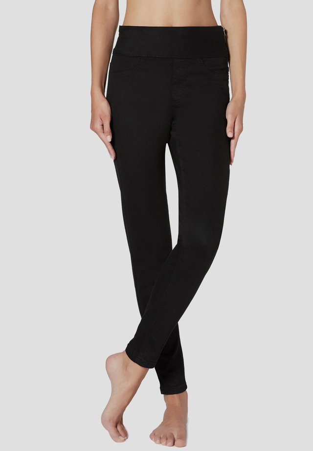 MIT HOHER TAILLE - Jeans Skinny - black