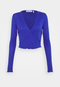 NU-IN - FRONT WRAP LONG SLEEVE - T-shirt à manches longues - blue - 0