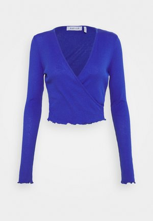 FRONT WRAP LONG SLEEVE - Topper langermet - blue