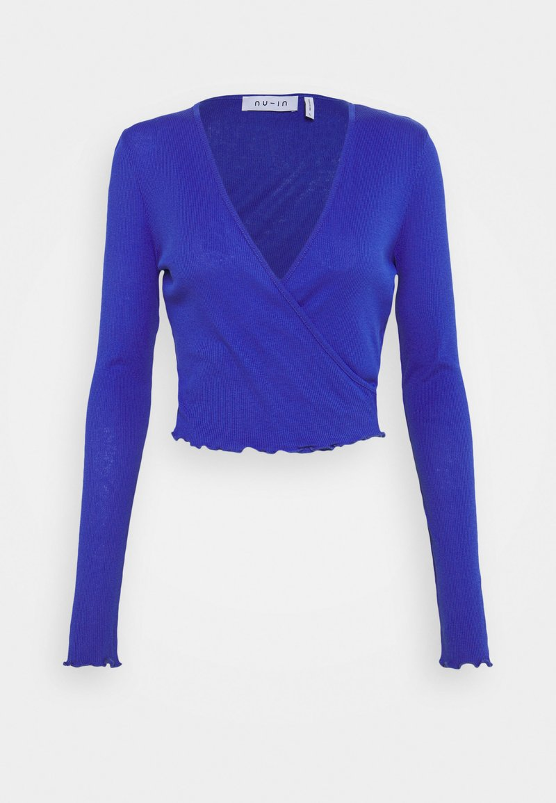 NU-IN - FRONT WRAP LONG SLEEVE - T-shirt à manches longues - blue