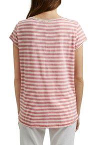 Esprit - SLUB - Print T-shirt - pink - 2