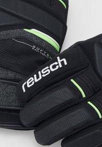 Reusch - STORM R-TEX - Handschoenen - black/black melange/neon green - 3