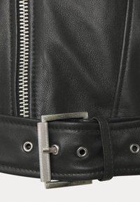 Tigha - BONE - Leather jacket - black - 7