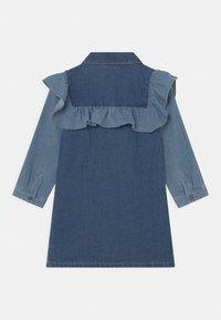 Cotton On - LUCILLE LONG SLEEVE FRILL DRESS - Denim dress - midnight - 1