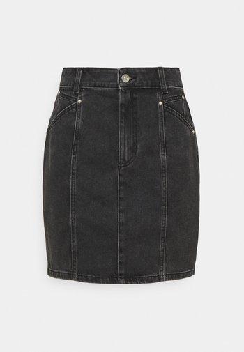 ONLAVALON LIFE STUD  SKIRT - Mini skirt - black
