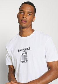 YOURTURN - UNISEX LOOSE FIT - T-shirt imprimé - white - 3