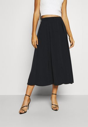 PLEATED MIDI SKIRT - A-linjainen hame - black