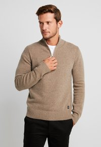 Marc O'Polo - TROYER ZIPPER - Jumper - sepia tint - 0