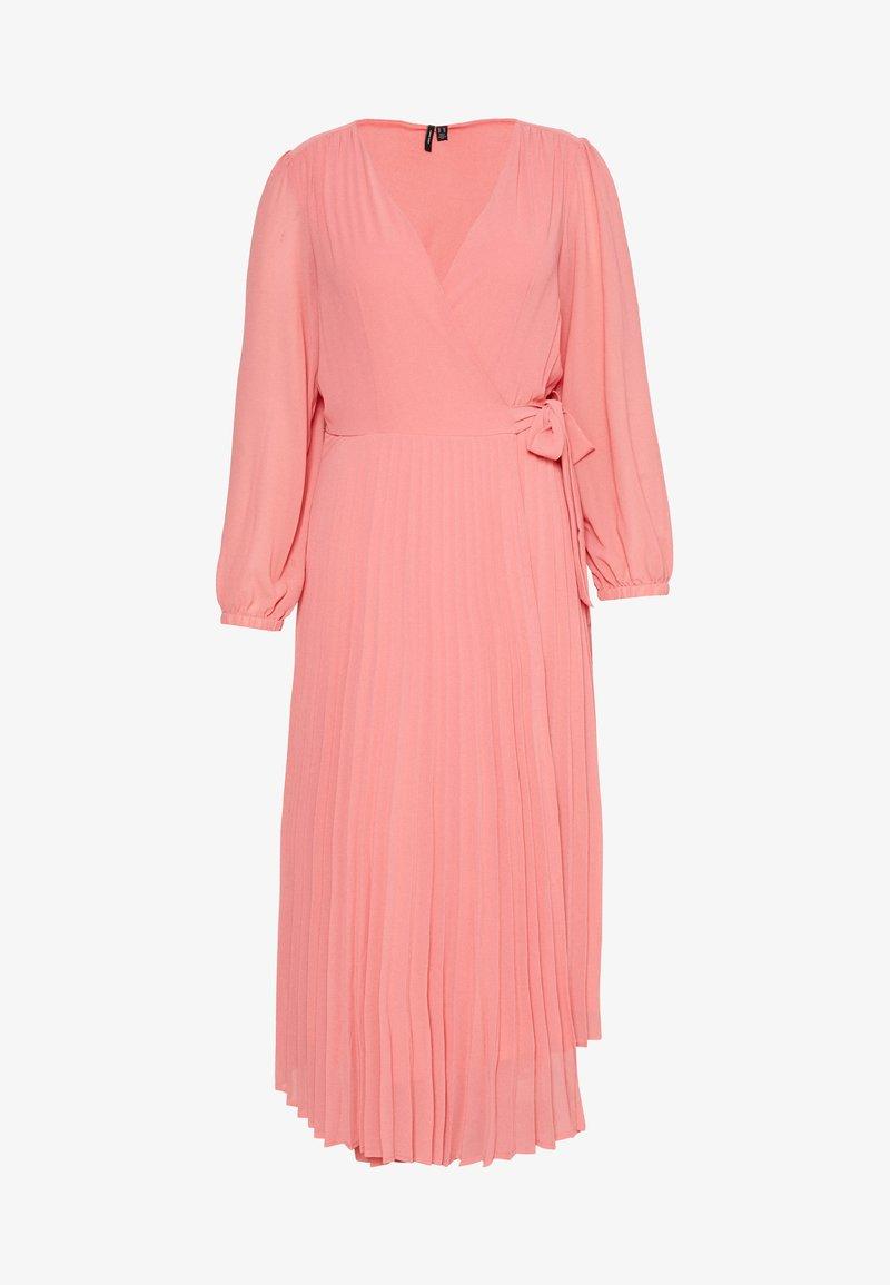 Vero Moda Curve - VMLAUREN WRAP DRESS - Sukienka koktajlowa - tea rose