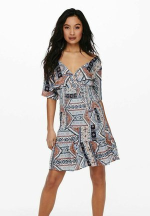 Korte jurk - faded denim