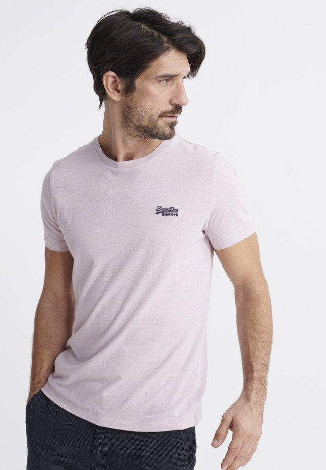 Superdry - VINTAGE CREW - Basic T-shirt - chalk pink