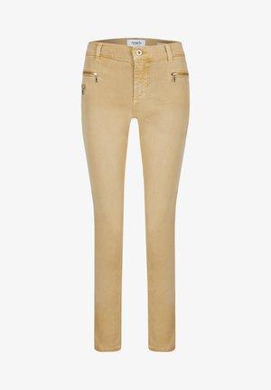 MALU ZIP - Slim fit jeans - sand