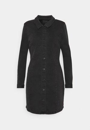 ONLSHARLENE LIFE BUTTON DRESS - Denim dress - black