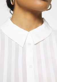 Vila - VIKAMOLIA SHIRT - Button-down blouse - cloud dancer - 5