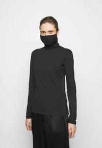 Proenza Schouler White Label - SHEER STRETCH TNECK MASK - Pitkähihainen paita - black - 0