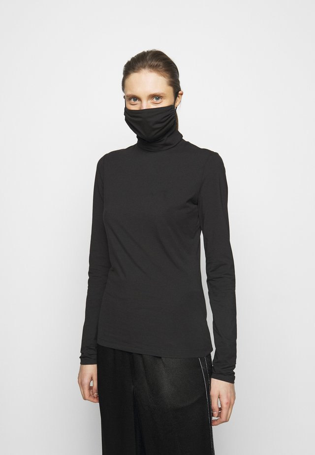 SHEER STRETCH TNECK MASK - Longsleeve - black